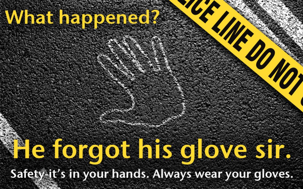 Safety glove poster